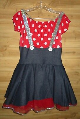 Minnie Mouse Dress Dance Halloween Costume made in USA size LA