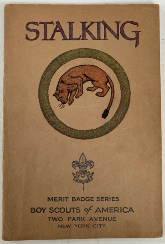 Boy Scout Merit Badge Book Brown Cover Type 3 Stalking (1930)