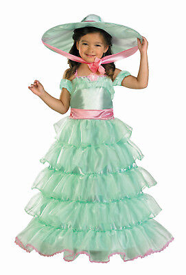 Southern Belle Kids Costume (Turquoise Southern Belle Child Deluxe Costume Small)