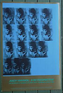 Andy-Warhol-25x36-Print-BLUE-LIZ-AS-CLEOPATRA-1963-Pop-ART-MOMA-Poster-RARE-O-P