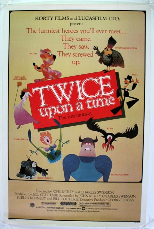 Twice upon time , original 1983 movie poster, mint condition ,rolled