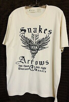 RARE - Official Rush 2008 Snakes & Arrows Embroidered Concert T-Shirt - Size XL