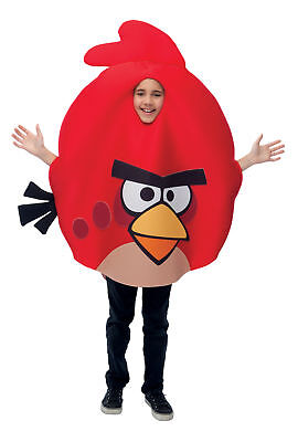 Rovio Angry Birds Red Bird Child Costume Animal Theme Girls Boys Party Halloween (Girl Bird Costume)