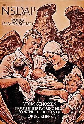 WW2 German Nazy Family Propaganda Poster - German Ww2 Propaganda Posters