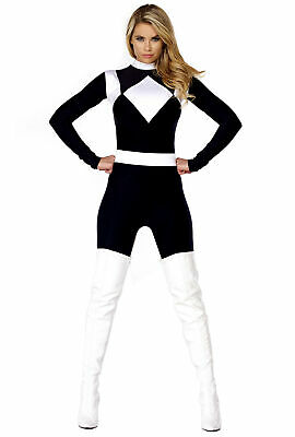 Sexy black womens power ranger catsuit - Sexy Power Ranger Kostüm