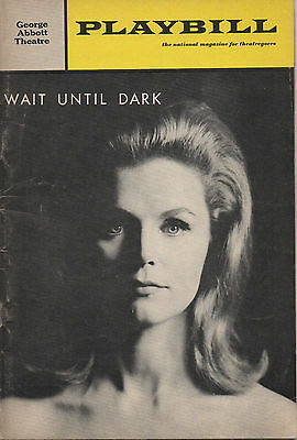 1966 Playbill Wait Until Dark Lee Remick Val Bisoglio Mitchell Ryan