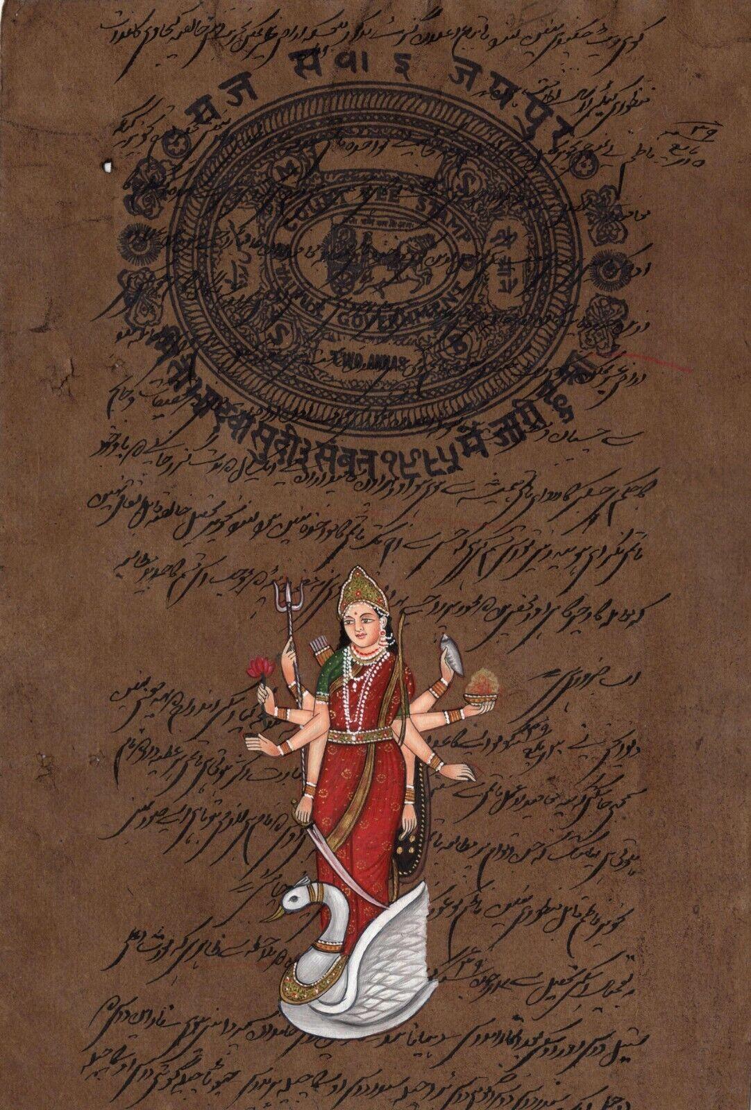 Hinglaj Mata Kunst Hindu Göttin Religiös Handgefertigt Spirituell Ethnisch Folk