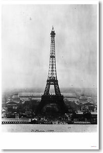 Eiffel-Tower-PARIS-France-French-Travel-Vintage-1889-Print-NEW-POSTER