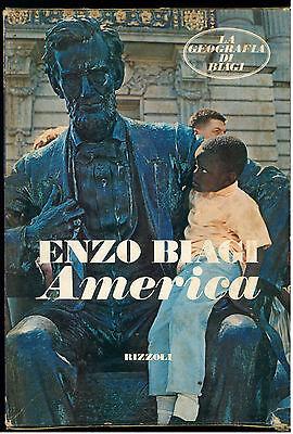 BIAGI ENZO AMERICA RIZZOLI 1973 I° EDIZ. LA GEOGRAFIA DI BIAGI 1 AUTOGRAFO
