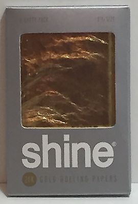 Shine 24K Gold Rolling papers 2-Sheet pack (Shine Paper)
