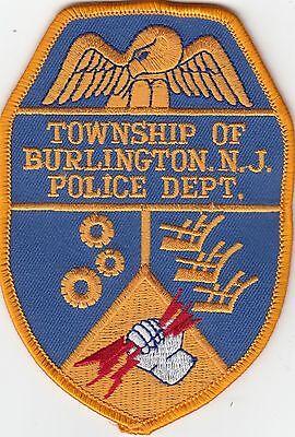TOWNSHIP OF BURLINGTON POLICE PATCH NEW JERSEY NJ