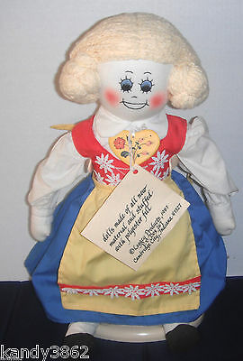 "Vintage Legacy Dolls 21"" KERSTIN Swedish Soft Sculp Rag Doll In National Costume"