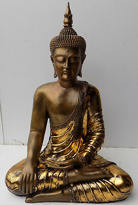 Buddha Thai CM 65 resin origin INDONESIA Shiva Ganesh divinity Gold Antique