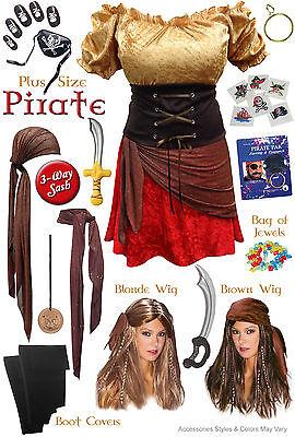 Sexy Pirate Plus Size Halloween Costume XL 0x 1x 2x 3x 4x 5x 6x 7x 8x 9x