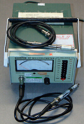 Boonton Electronics 92b Rf Millivoltmeter Voltmeter With Two Probes