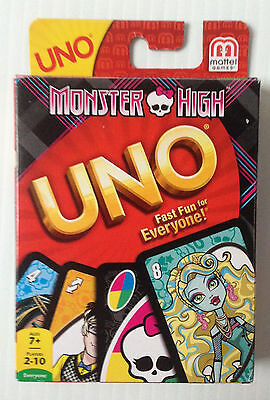 Mattel UNO Monster High Special Edition - Brand New, Sealed - 'Urrrhhhh' card!