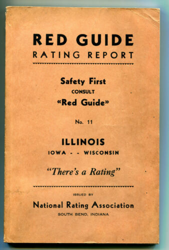1938 Red Guide Rating Report, National Rating Association, IL, IA, WI