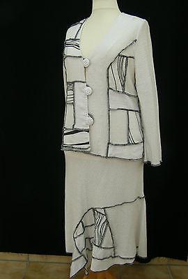 LUXUS feminine MODE mit STIL ,Designer Kostüm, Rock + Jacke Gr. 40,42,44,46,48