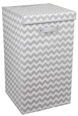 Home Basics NEW Chevron Grey Non-Woven Fabric Laundry Clothing Hamper - SB49909 ()
