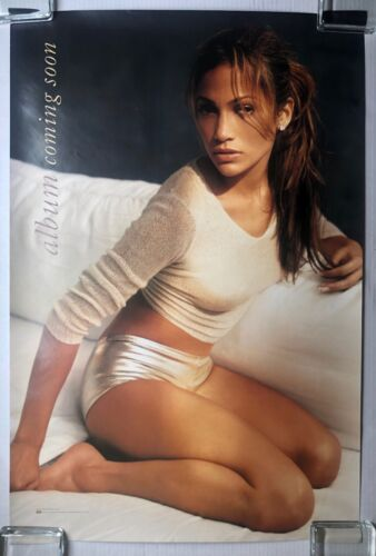 """JENNIFER LOPEZ """"Album Coming Soon"""" On The 6 DOUBLE SIDED 1999 PROMO POSTER JLO"""