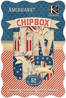 K&Company Americana Alphabet Chipbox