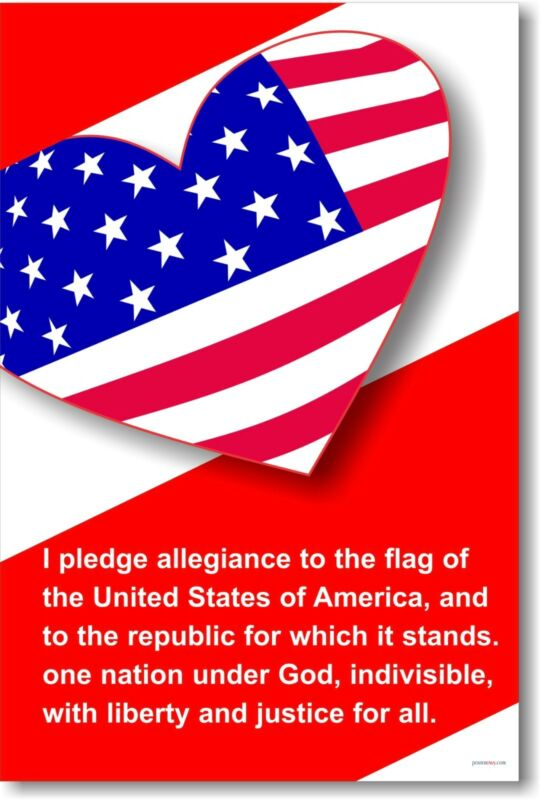 Pledge of Allegiance 2 America Classroom     NEW POSTER