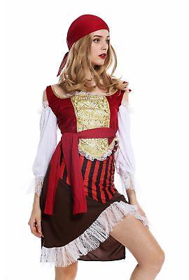 Kostüm Damen Frauen Karneval Piratin Piratenbraut Seeräuberin Gr. S W-0081