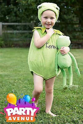 Disney Baby Toddler Muppets Kermit Tabard Babies Costume Outfit Fancy - Toddler Kermit Costume