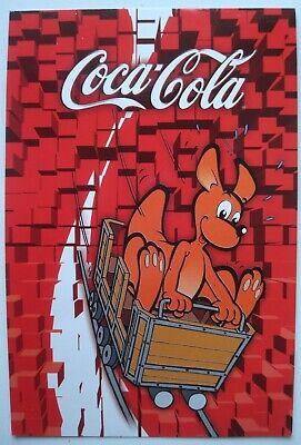 Carte publicitaire Walibi Coca-Cola Boule & Bill Lucky Luke Bob & Bobette 2005