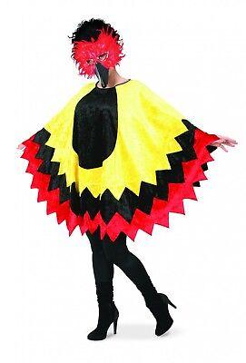 Karneval Vogel Kostüm (Kostüm Cape Umhang Birdy Vogel Feuervogel Poncho Karneval Fasching)
