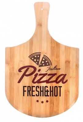 Large Bamboo Pizza Paddle Board Serving Board Rustic Sharing Platter 48cm Bamboo Paddle Board