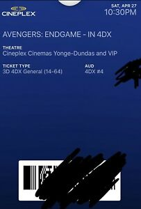 Avengers (Endgame Tickets) for sale in 4DX.