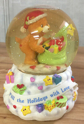 Carlton Cards Care Bears Fill The Holidays With Love Snow Globe Musical 2003