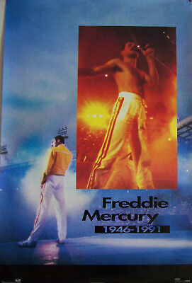 QUEEN 1992 FREDDIE MERCURY REMEMBRANCE POSTER