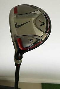 "USED NIKE VICTORY RED LEFT LH 3 WOOD 15° 43"" 3W SNR A FLEX Loganholme Logan Area Preview"