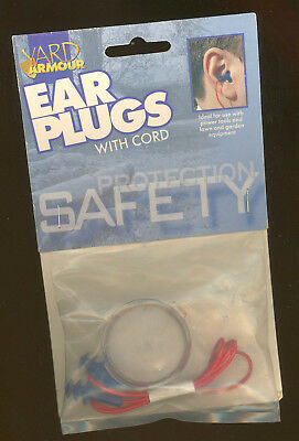 Ear Plugs With Safety Cord Armour Yard Washable Reusable Triple Guard Case New