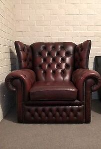 Genuine leather chesterfield armchair Eumemmerring Casey Area Preview