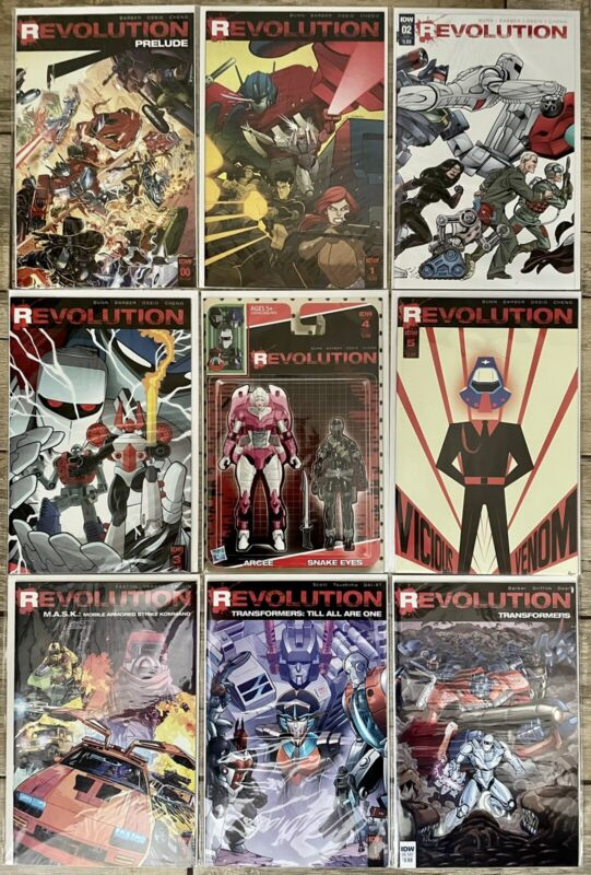 IDW Comics Hasbro Crossover Revolution 0-5 Plus M.A.S.K. and Transformers 1-Shot