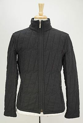 DIRK BIKKEMBERGS Charcoal Gray Quilted Wool Blend Zip-Front Jacket M