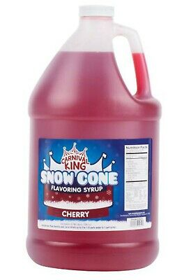 1 Gallon Premium Wholesale Carnival King State Fair Cherry Snow Cone Syrup