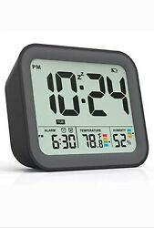 Battery Operated Digital Alarm Clock Dual Smart Workdays/Weekends Setting Loud