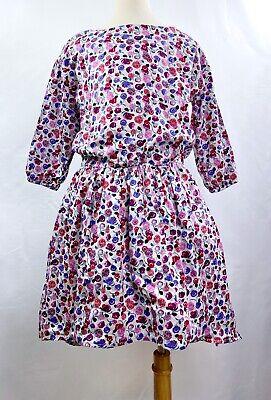 TEA COLLECTION Girls Lyrical Ditsy Hi-Lo Floral Multi-Color Dress Sz -