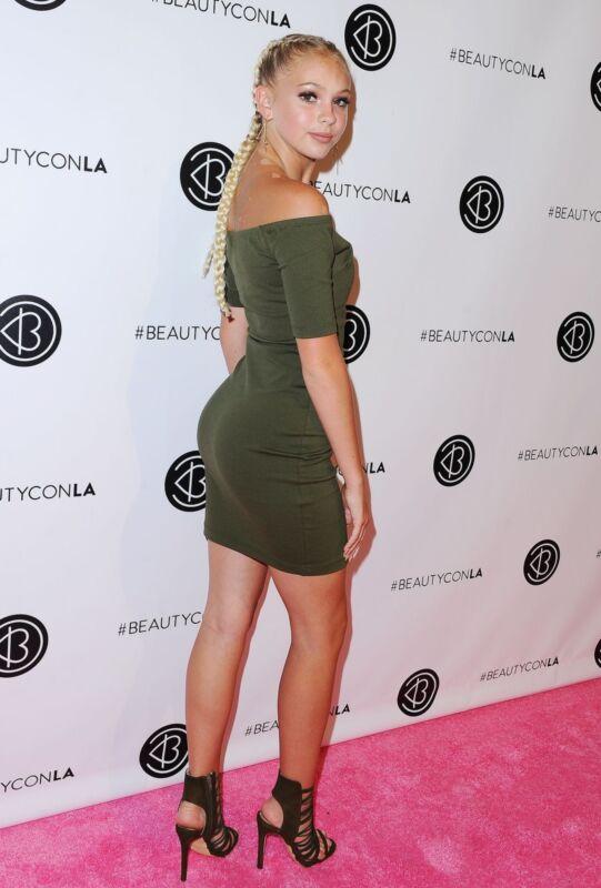 Jordyn Jones Posing Green Dress 8x10 Photo Print