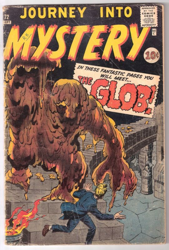 JOURNEY INTO MYSTERY #72, ATLAS/MARVEL 1961, GD/VG CONDITION, RK COLLECTION