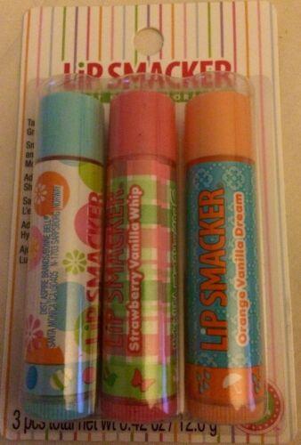 Lip Smacker Lip Gloss Trio Sweet Bubble Gum Strawberry Vanil