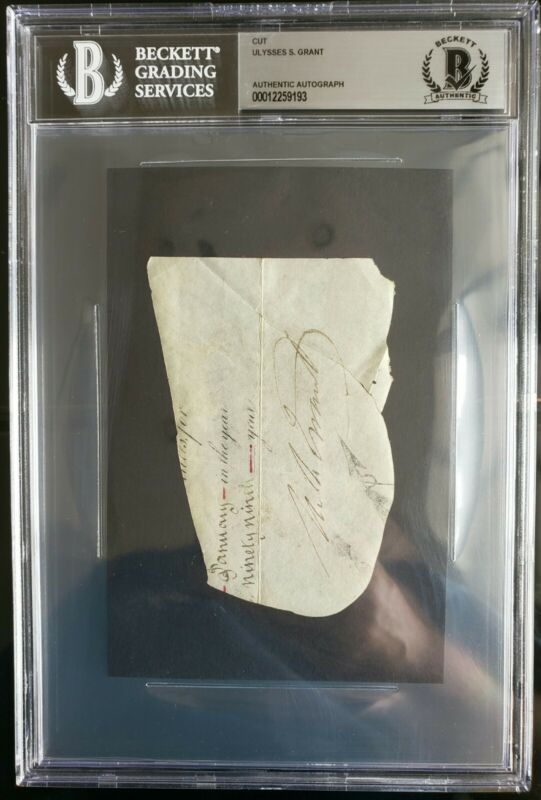 ULYSSES S. GRANT PRESIDENT SIGNED AUTOGRAPH BECKETT BAS AUTHENTIC!