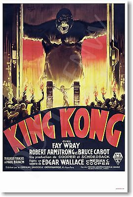 King Kong 1933 French Movie Poster - Vintage France Reprint - NEW POSTER