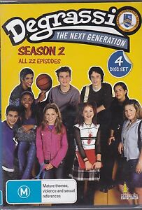 DEGRASSI THE NEXT GENERATION - SEASON 2 - ALL 22 EPISODES - 4 DVD'S