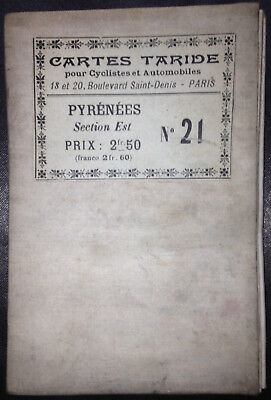 Card Taride No.21 - Pyrenees, section Is - card for cyclists and automobiles
