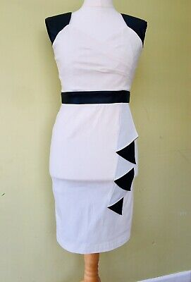 PAPER DOLLS Dress 12 New Tags Fitted Wiggle Leather Look 50's Pin-up X16